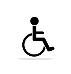 disabled toilet icon vector image