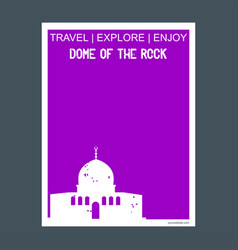 Dome of the rock shrine jerusalem monument vector