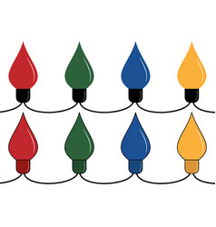 Electric garland lamps vector