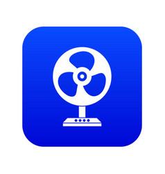Fan icon digital blue vector