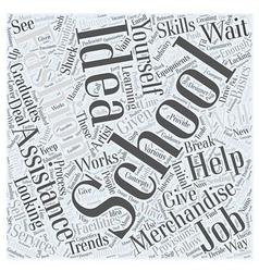 Fashion merchandising schools Word Cloud Concept vector