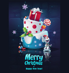 festive set - happy new year vector image