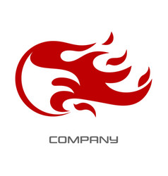 flame letter f logo vector image
