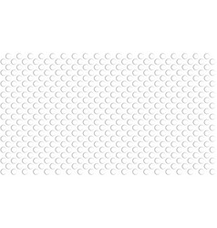 Flat embossed white round texture abstract vector