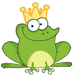 Frog Prince Cartoon Character vector
