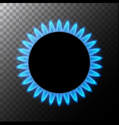 gas flame blue energy gas stove burner vector image