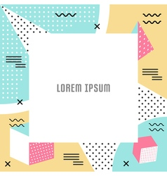 Geometric Pattern and Background vector image