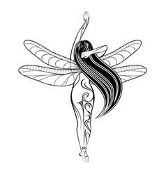 Girl fairy 2021 0001 vector