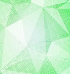 Green crystal pattern dot hi-tech background vector image