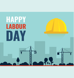 Happy labour day template vector