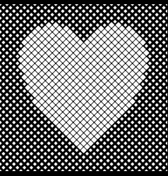 heart shaped background design from white vector image