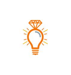 Idea diamond logo icon design vector