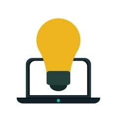 Idea laptop technology vector