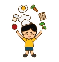 Kids food nutrition vector