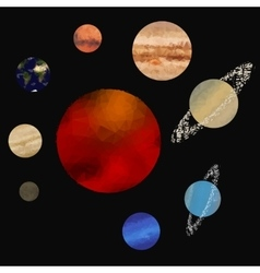 Low poly solar system vector