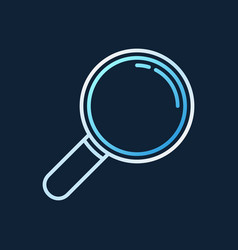 magnifying glass linear icon - magnifier vector image
