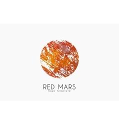 Mars logo Red mars logo Planet logo Red planet vector