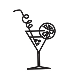 Minimalist black cocktail image vector image
