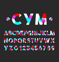 Modern style font typography alphabet set vector