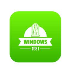 Modern window icon green vector