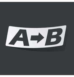 Monochrome A to B sticker vector