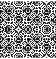Monochrome seamless pattern with geometric vector image