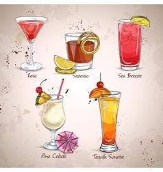 New Era Cocktail Set vector