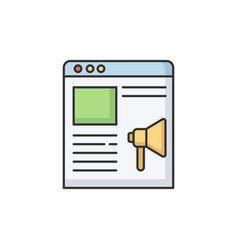 Online campaign rgb color icon vector