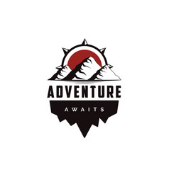 Outdoor adventure travel badge logo vector