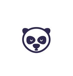 panda head icon vector image