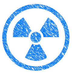 Radioactive grunge icon vector
