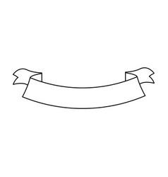 ribbon banner decoration emblem empty vector image