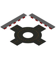 Road design with roundabout and pavements vector