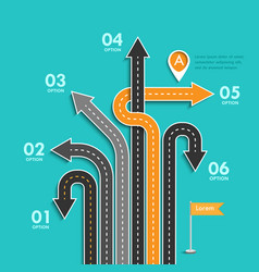 road trip and journey route business and journey vector image