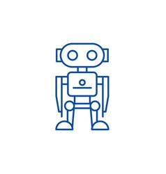 robot line icon concept robot flat symbol vector image
