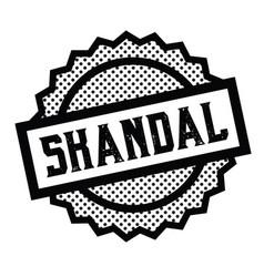 scandal stamp on white vector image