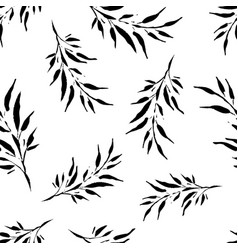 seamless background with decorative branche vector image