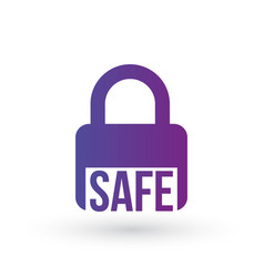 security icon safe lock icon padlock symbol vector image