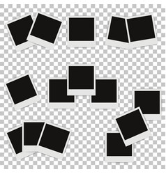 set of different photo frames with shadows vector image