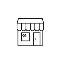 store icon shop build vector image