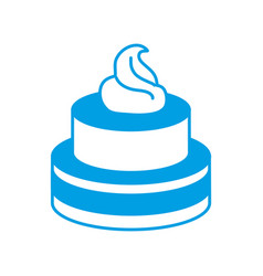 Sweet cake icon vector
