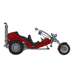 The red motor tricycle vector