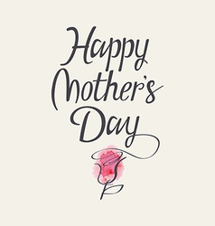 The words Happy Mothers Day vector