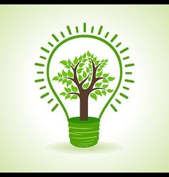 Tree inside the bulb vector