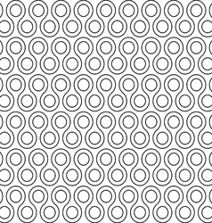 Twist rounds seamless pattern vector