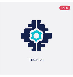two color teaching icon from artificial vector image