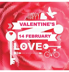 Valentines Day posterTypography vector image