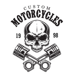 Vintage custom motorcycle logotype vector