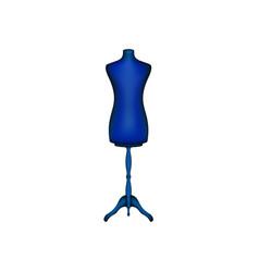 vintage dress form in blue design vector image