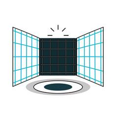 Virtual reality platform icon vector